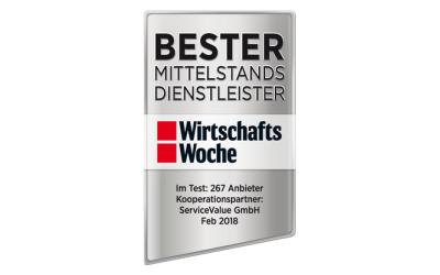 Ranking der Wirtschafts-woche: Steinbach & Partner unter den Top 3