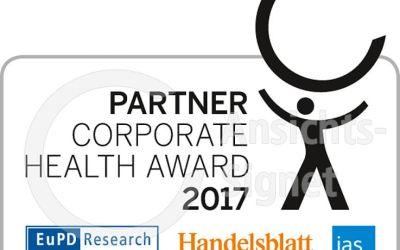 Steinbach & Partner unterstützt das Corporate Health Award 2017